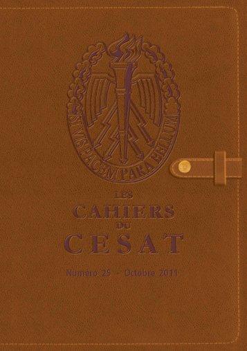 Cahier n°25 - cesat - Ministère de la Défense