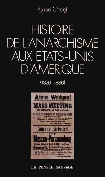 Histoire de l'anarchisme aux Etats-Unis d'Amérique - Institut Coppet