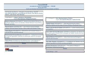 Programa [pdf] - cehum - Universidade do Minho