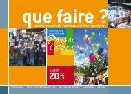Que faire 2012-2013 - Communauté de Commune Pays de l'Ozon