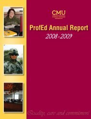 ProfEd Annual Report - Central Michigan University Global Campus