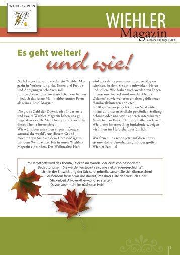 Wiehler Magazin Deutsch Aug. 2008.indd - Wiehler Gobelin
