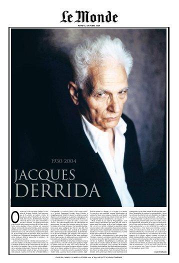 Derrida - Le Monde