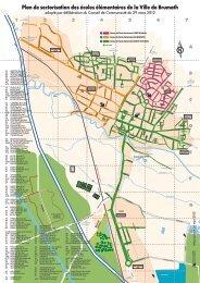 Plans de sectorisation des écoles de la Ville - Brumath