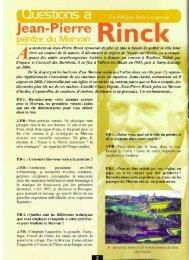 N° 15 : Questions à Jean-Pierre Rinck - Vents du Morvan