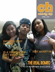 April 2007 - Celebrity High Magazine