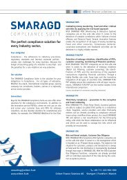 SMARAGD Compliance Suite 2013 - overview products
