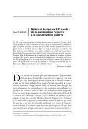 Nation et Europe au XXe siècle : de la sacralisation négative à ... - Ifri