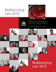 Redistricting Law 2010 - Net