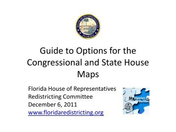 Guide to Options for the Congressional and State House Maps - Net