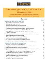 Measuring Impact - Center for Positive Organizational Scholarship