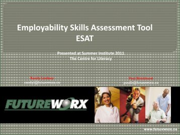 Employability Skills Assessment Tool ESAT - The Centre for Literacy ...