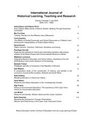 International Journal of Historical Learning, Teaching and Research
