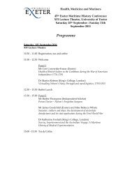 Conference programme - University of Exeter