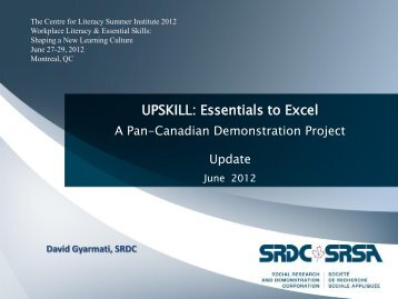 UPSKILL: Essentials to Excel - The Centre for Literacy of Quebec