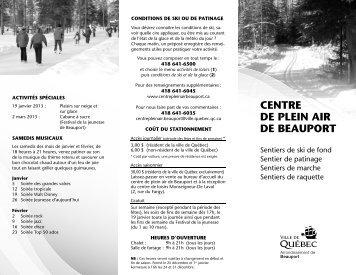 CENTRE DE PLEIN AIR DE BEAUPORT - Bonjour Québec.com