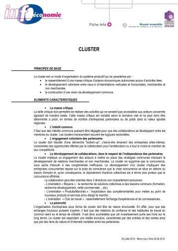 cluster - CCI Côte-d'Or