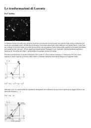Le trasformazioni di Lorentz - Ciaoidea