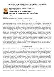 Aberlenc H-P., 2009 – La sauvegarde de la biodiversité passe par la ...