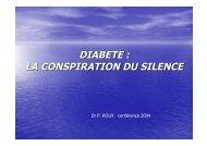 DIABETE : LA CONSPIRATION DU SILENCE - Applications services