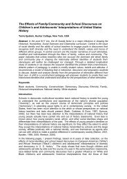The Effects of Family/Community and School Discourses on ...