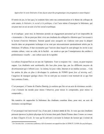 Josee Larochelle - Cégep de Rimouski