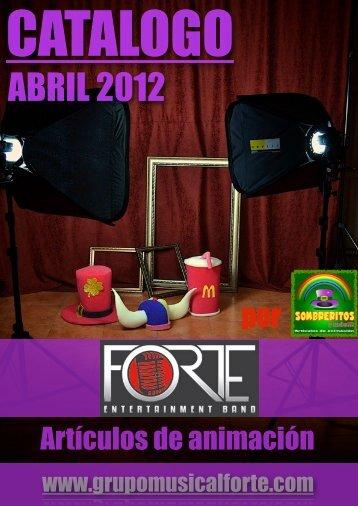 CATALOGO SOUVENIRS FORTE ABRIL 2012 - Grupo Musical Forte