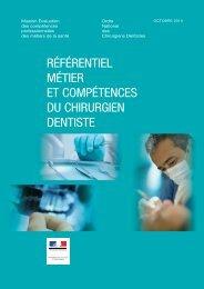 Le référentiel métier et compétences du chirurgien-dentiste
