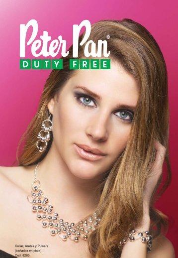 Collar, Aretes y Pulsera (bañados en plata) Cod. 8285 - Peter Pan ...
