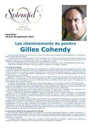 Les cheminements du peintre Gilles Cohendy - Amoureux d'Art en ...