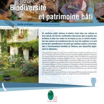 Biodiversité et patrimoine bâti - Parc naturel régional du Vexin français