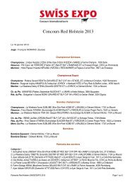 Concours Red Holstein 2013 - Swiss Expo