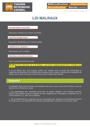 malraux ancien régime fiscal - Theisen Patrimoine Conseil