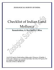 Checklist of Indian Land Mollusca - Zoological Survey of India