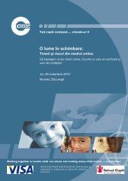 O lume în schimbare: Tinerii şi riscul din mediul online - Ceop
