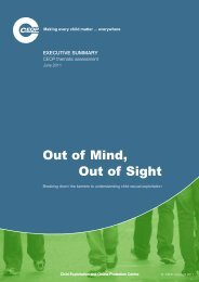 Out of Mind, Out of Sight - Ceop