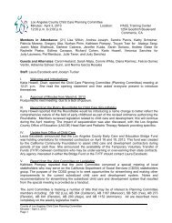 Los Angeles County Child Care Planning Committee Minutes: April ...