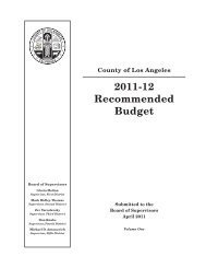 Recommended Budget Volume One.book - Chief Executive Office ...