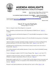 march 20 2012 agenda highlights - County of Los Angeles - Chief ...