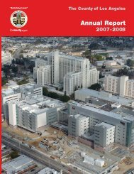 Annual Report - Chief Executive Office - Los Angeles County