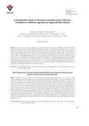 A Comparative Study on Pleurotus ostreatus (Jacq.) P - Tübitak