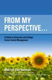 From My Perspective... A Guide to University and College ... - ceric