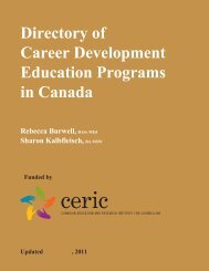 Directory of Career Development Education Programs in ... - ceric