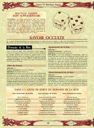 RDS : chapitre 6 - Bibliothèque Interdite
