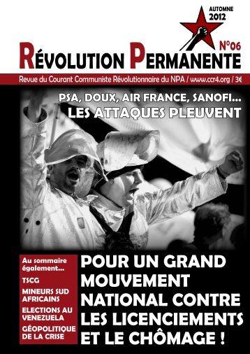 Révolution PeRmAnente - Courant Communiste Revolutionnaire ...