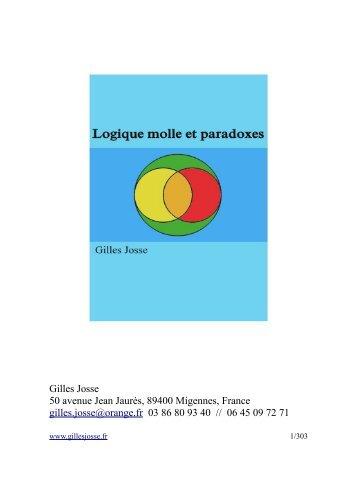 Logique molle et paradoxes - Gilles Josse