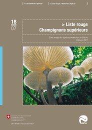 Liste Rouge des espèces menacées en Suisse ... - BAFU - CH