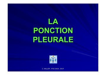 LA PONCTION PLEURALE