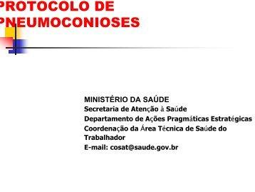 PROTOCOLO DE PNEUMOCONIOSES - Ministério da Saúde