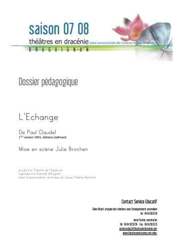 Dossier pédagogique L'Echange